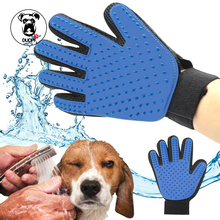 pet hair glove Comb Silicone True Touch Glove Gentle Efficient Pet Grooming Animal Dog Spill Grooming Brush Bath Gloves For Cats