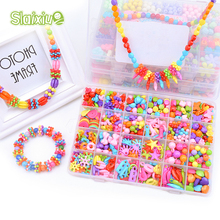 DIY Toys Colorful Beads For Children String Beads Make Up Puzzle Toy Girl Kid Educational toys Jewelry Necklace Bracelet Toys(China)