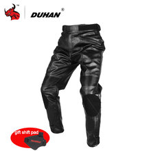 DUHAN Motorcycle Trousers Motorcross Riding Protective Trousers Waterproof Windproof PU Imitation Leather Racing Sports Pants(China)