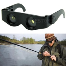 Portable Glasses Style Magnifier Telescope Binoculars Hiking Fishing Concert Use
