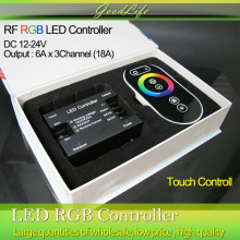 18A DC 12V/24V RF Wireless Touch RGB controller for 5050/3528 RGB LED Strip