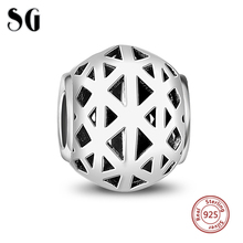 Silver 925 Original Contracted Style Charms collect Beads Pendant Antique Jewelry Fit pandora charm bracelet jewelry making Gift(China)