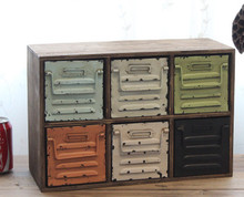 American Vintage Storage Drawer Decoration Cabinet