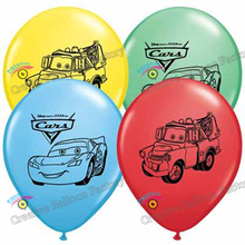 12pcs/lot cartoon car balloons latex balloons baby showr decorations birthday party decorations kids toys balons 11""