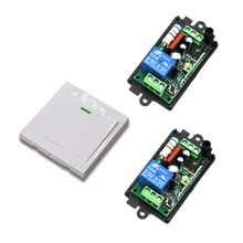 New Remote Control Switch AC110V 220V 2* Receiver Wall Transmitter Wireless Power Switch 315/433 Radio Controlled Switch Relay