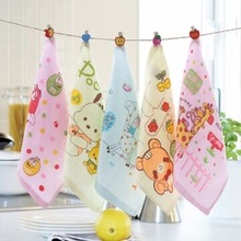 5 pc/lot High Quanlity Hand Towel 100% Cotton Baby Towel Soft Kids Face Towel 26*26cm 2 Layers Gauze Printed Muslin Towel Brand