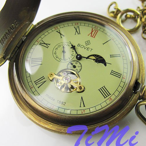Antique Double Cover Tourbillon MoonPhase Pocket Watch<br><br>Aliexpress