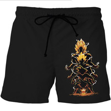 2017 New Latest Design Dragon Ball Z Naruto Style Beach Shorts Summer Casual Men Shorts 3D Print Harajuku Funny Elasticity Belt(China)
