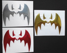 BATMAN,Car styling sticker,Car logo sticker, 3D Chromed PVC Car Sticker Emblem Decal Bat(China)