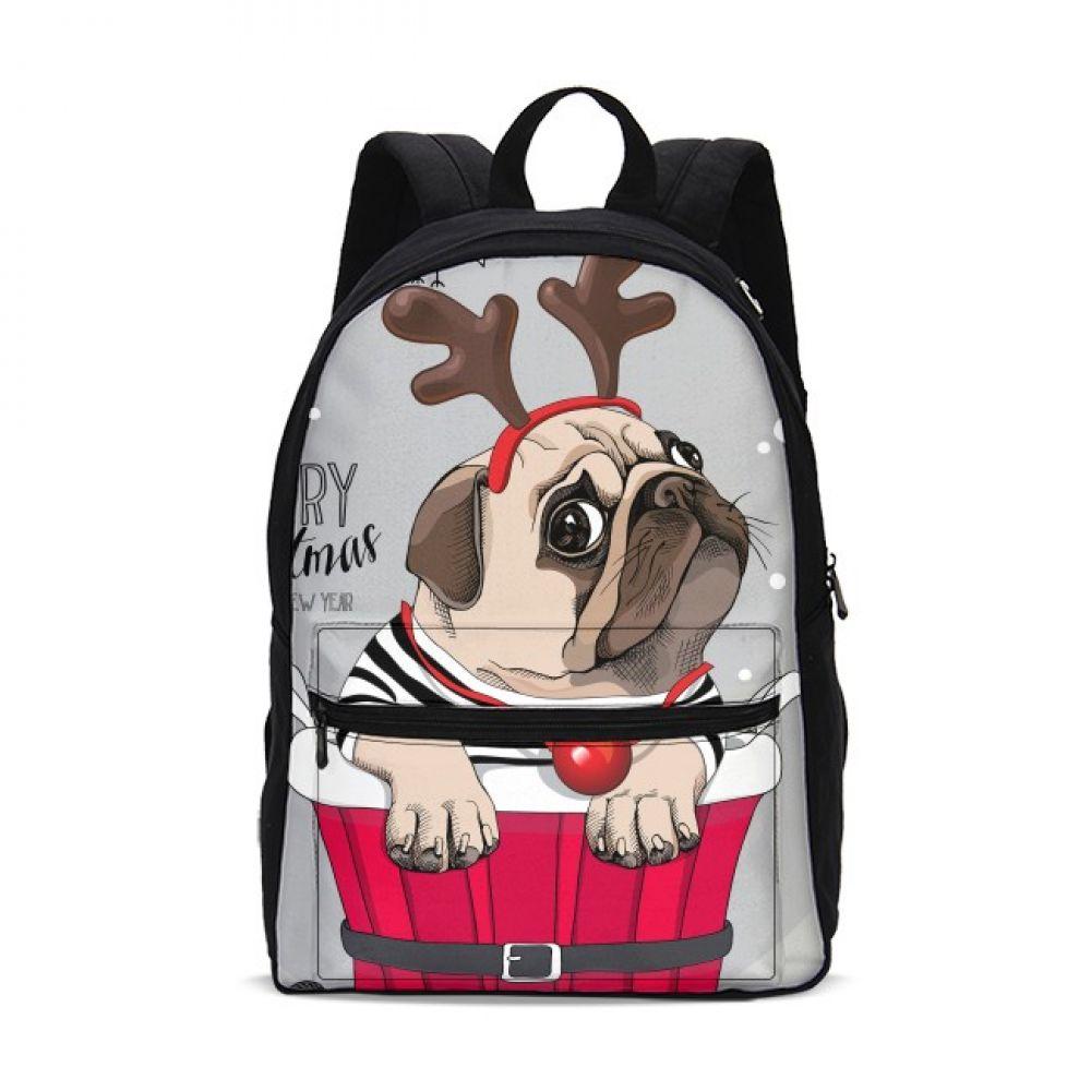 VEEVANV Cartoon Anime French Bulldog Canvas Backpacks Christmas Gift FOR Kids Girls School Bag guilty Dog Bagpack shoulder bag