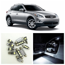 12pcs Canbus Car LED Light White Bulbs Interior Package Kit For 2008 2009 2010 2011 2012 Infiniti EX35 Map Dome Trunk Lamp