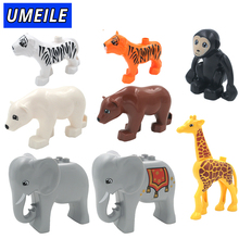 UMEILE Brand 1PCS Original Duplo Animal Large Particle Building Blocks Zoo Set Kids Toys DIY Brick Compatible With Duplo Gift(China)