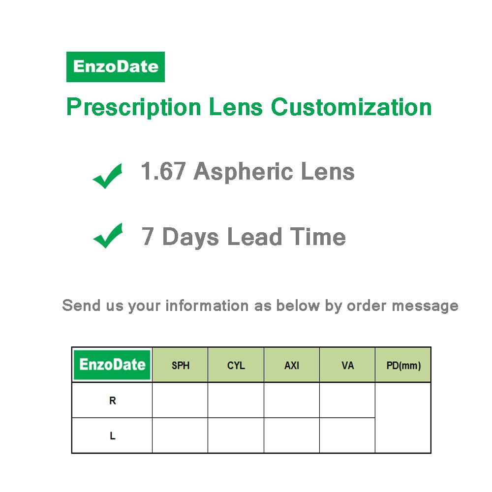 EnzoDate Kids Prescription Lens