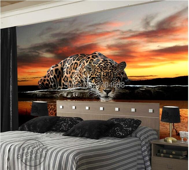 Custom photo wallpaper animal leopard room TV backdrop for vinyl wallpaper Papel de parede<br><br>Aliexpress