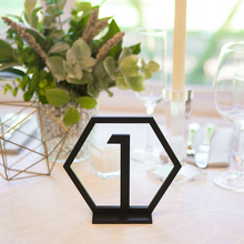 Acrylic Geometric table numbers,wedding Hexagon Table Numbers , Reception Centerpieces Sticks, Boho Centerpiece Table Decor