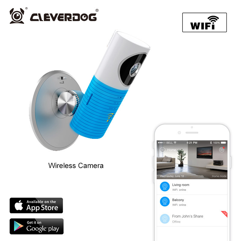 Free Shipping!2015 Hot Wireless Wifi 720 IP Camera Intelligent Alerts Nightvision Intercom Smart Camera support iOS Android<br><br>Aliexpress