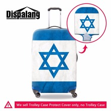 Dispalang thick portable elastic luggage protective cover Israel Flag pattern waterproof travel suitcase cover baggage cover