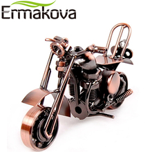 ERMAKOVA Metal Motorbike Model Motor Figurine Iron Motorcycle Model Birthday Gift Boy Toy Metal Crafts Home Desktop Decor(China)