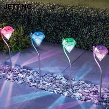 JETTING NEW Power Solar Diamond Shape LED Path Wall Landscape Mount Garden Fence Lamp Light Solar Lawn Light Solar Garden Light