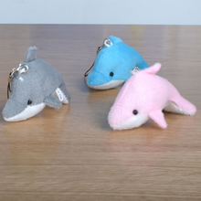 3 Pcs/lot 8cm Kawaii Animal Plush TOY,Dolphin toy Phone Pendant Lanyard Chain,Key Chain toy gifts