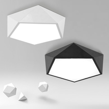 Art LED Iron Geometric Ceiling Light Modern Simple Remote Color/Single Color Nordic Bedroom Study Rhombic Ceiling Light
