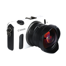 Buy 7.5mm F/2.8 Wide Angle Camera Fisheye Lens 180 Degree Canon EOS-M mount cameras M M1 M2 M3 M5 M6 M10 M100 for $173.80 in AliExpress store