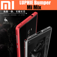 CDQ64XM Xiaomi Mi Mix Original LUPHIE bumper Amazing Aluminum Metal Frame for Xiaomi mix Strong Armor Border case(China)