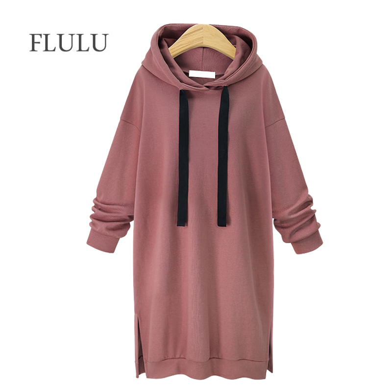 AOTEMAN Autumn Winter 2019 New Long Hoodie Sweatshirt Women Casual Long Sleeve Sweatshirt Hoody Pullover Ladies Sweatshirts Coat
