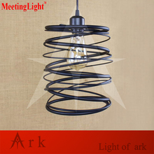 vintage retro Indoor metal Loft Northern Europe american country iron LED pendant lamp For Kitchen/Cabinet TEA ROOM COFFEE HOUSE(China)