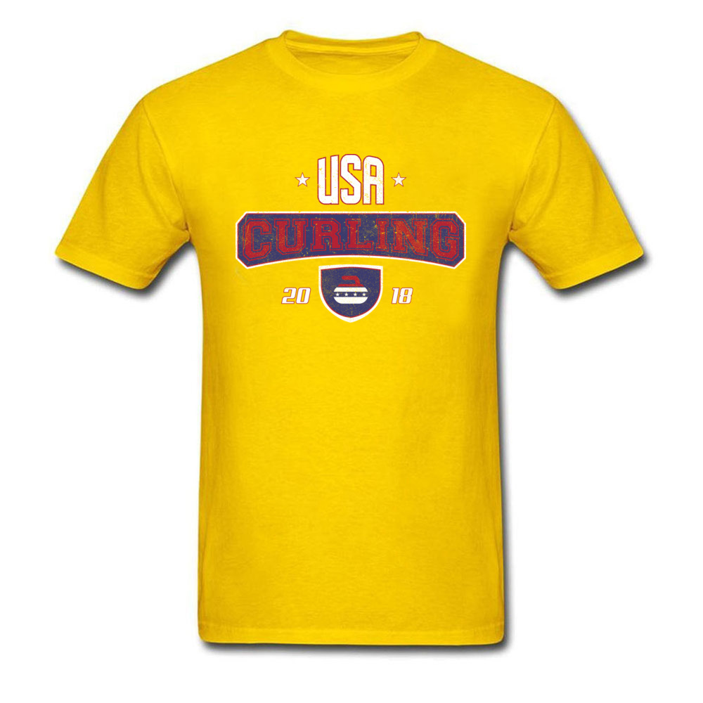 Curling USA Winter Sports Bonspiel Stone_yellow