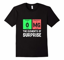 T Shits Printing Short Sleeve Casual O-Neck Cotton Periodic Table Of Elements OMG Cheap Sale 100 % Cotton T Shirts