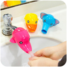 3 Colors Kids Cartoon Wash Helper Children Guiding Plastic Gutter Faucet Extender Bathroom Accessories Hand Washing Water Chute(China)