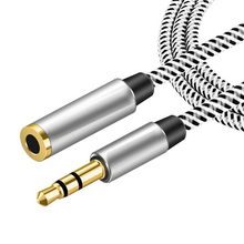 Jack 3.5mm Male to Female 90 degree Audio Cable Headphone Aux Audio Extension Cable Flat/Round 0.5m-5m for Computer Headphone(China)