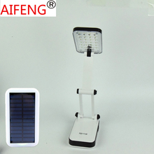 Solar rechargeable camping table lamp lights  built-in battery is contemporary  contracted folding 24LED US PLUG +EU adapter