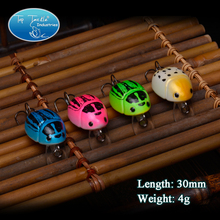 Free shippingFree Shipping Beetle Bug- (30mm 4g)-4color 4/pcs Fishing lure popper Minnow Crank