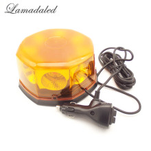 Lamadaled DC12V24V super bright amber 40W auto led strobe lights beacon with magnetic police vehicle emergency car warning lamp