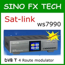 SATLINK WS-7990 DVB-T 4 Route modulator MPEG4 HD analogue A/V source to DVB-T channel SATLINK WS7990(China)