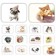 1pcs 40*60cm Cats Dog Pattern Anti-Slip Suede Carpet Door mats doormat Outdoor Kitchen Bathroom Living room Floor Mat Rug 48179