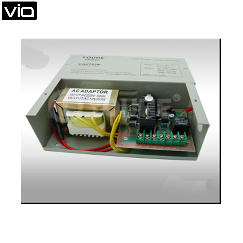 YH-802 Free Shipping Line Power Supplier Controller for Access Control High Quality Element Output DC12V Build-in Backup Charger<br>