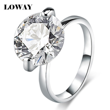 LOWAY Big 10 Carat Proposal Rings for Women Size 10 Cubic Zircon White  Anillos Engagement Ring Jewellery JZ5893