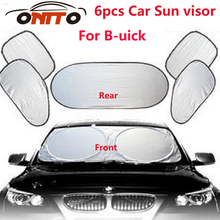 6pcs/set Car sun visor sunscreen insulation curtain sun block light Front/Rear shade anti UV windshield window for Regal Rainier