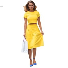 Women's Two Piece Midi Pleated dress Ladies Crop Tops Summer dresses Evening Party wear vy