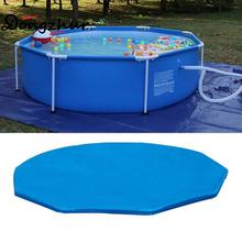 Dongzhur High Quality Ground Float Swimming Pool Anti Dust Rain Leaves Cover Pool Cover NOT Pool! New Blue SWM1689(China)