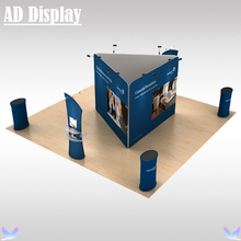 6m*6m Exhibition Portable Aluminum Stand With Tension Fabric Structure Banner Printing,Trade Show Advertising Display Equipment
