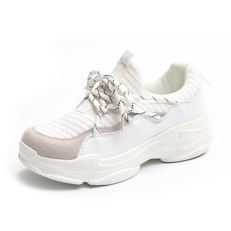 HUANQIU Women Sneakers 2018 Spring New Female Casual Shoes Mixed Colors White Black Shoes Zapatillas Deportivas Mujer Size 35-39<br>
