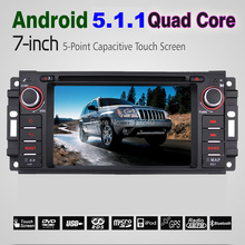 Car DVD Multimedia Player For JEEP Chrysler Dodge Quad Core Android 5.1 Car GPS Navigation Radio Player Head Unit #4389