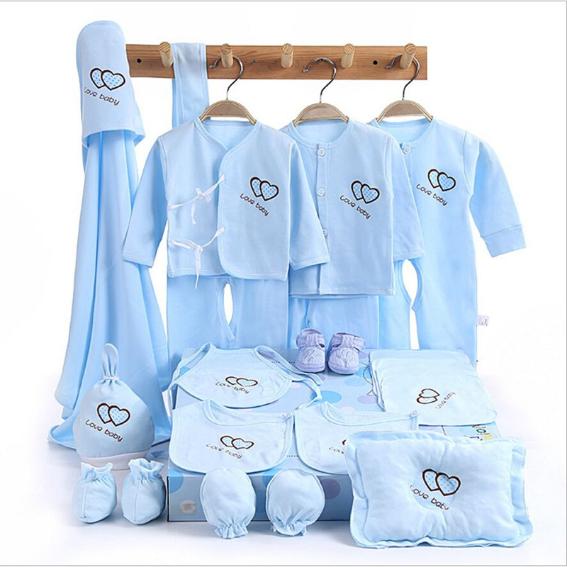 100% cotton 15piece /set Newborn baby gift set  long sleeve solid  baby girl clothes with baby Hold for0-12month<br><br>Aliexpress