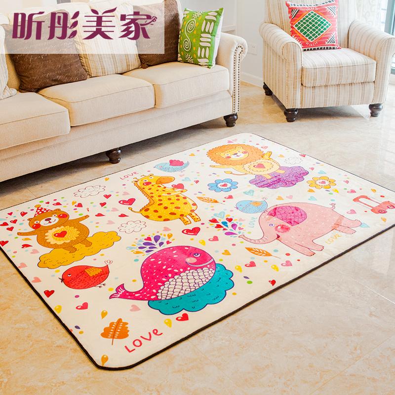 Compre ni os de dibujos animados de alfombras suaves - Alfombras habitacion ninos ...
