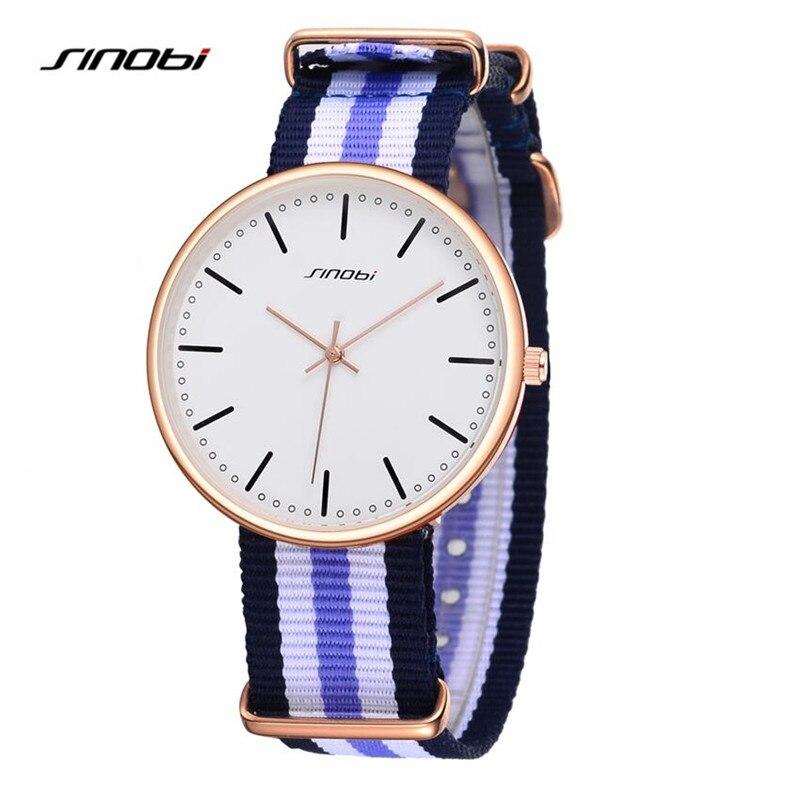 SINOBI Hot Selling Fashion Luxury Nylon Strap Quartz Watches Women Men Military Wrist Watch Relogio Masculino Gift Clock AB2155<br><br>Aliexpress