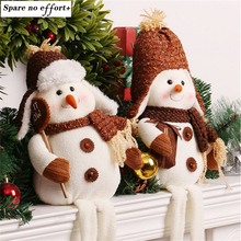 Enfeite De Natal Christmas Snowman Doll Toy Desktop Ornaments Best Christmas Gifts for Girls Christmas Decorations for Home(China)